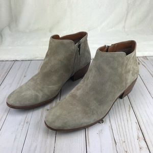 Sam Edelman PETTY Gray Suede Ankle Booties Sz 10.5